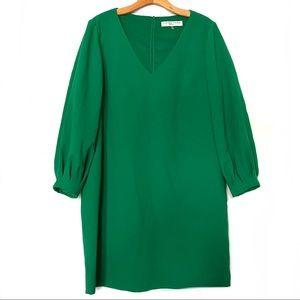 Trina Turk Green Delni V Neck Shift Dress 10 M